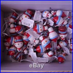 Joblot Wholesale 70 Snowman Snowmen Christmas Xmas decoration personalised names