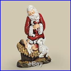 Joseph's Studio Kneeling Santa Slim Profile Figurine