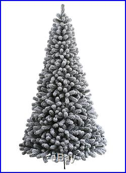 KING OF CHRISTMAS 7 Foot Prince Flock Artificial Christmas Unlit, Flocked Snow