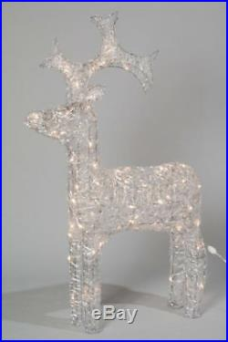 Kaemingk Christmas LED Indoor Outdoor Acrylic Reindeer 120cm WARM WHITE