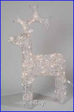 Kaemingk Christmas LED Indoor Outdoor Acrylic Reindeer 90cm WARM WHITE