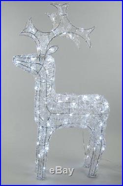 Kaemingk LED Outdoor Acrylic Reindeer 120cm Cool White Christmas Decoration