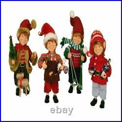 Karen Didion Originals 4 Piece Themed Elf Assortment Figurine, 9 Inches