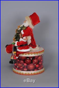 Karen Didion Originals Christmas Lighted Traditional Glow Santa Figurine