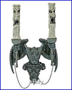 Katherine´s Collection Halloween Wandleuchter Kerzenleuchter Wasserspeier 60cm
