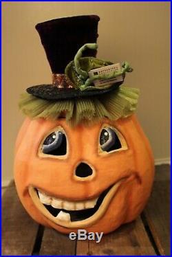 Katherine´s Collection lustiger Halloween Kürbis Handarbeit Sammler 32cm NEU