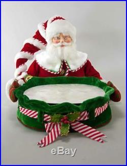 Katherines Collection Santa Serving Tray Christmas Treats Drinks 28-828372