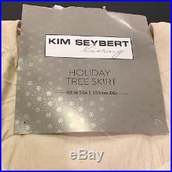 Kim Seybert Beaded Designer Christmas Tree Skirt Beach Starfish Coral Crab 62