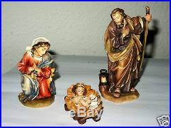 Krippe Holz Heilige Familie Jesus Maria Weihnachten