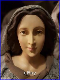 Krippenfiguren Heilige Familie Krippe Maria Josef Jesus 45cm Nativity Stoff NEU