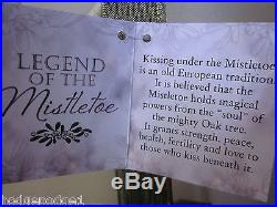 Krystals Ganz Mistletoe Legend Decor Christmas Holiday