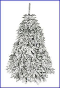 Künstlicher Weihnachtsbaum Tannenbaum Fichte dick im Schnee gehüllt 180 cm