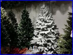 Künstlicher Weihnachtsbaum Tannenbaum Fichte dick im Schnee gehüllt 220 cm