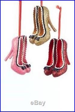 Kurt Adler Christmas Tree Shoe Ornaments