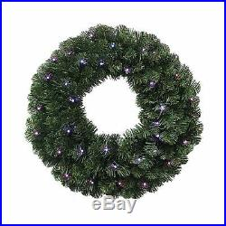 Kurt Adler Twinkly 24-Inch Pre-Lit Led Wreath