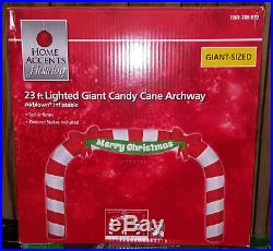 LAST ONE! GIANT 23 ft Christmas DRIVEWAY Candy Cane Arch Airblown Inflatable