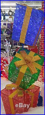 LED 3-Stack Gift Box Set Christmas Decoration