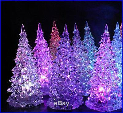 Led 7 Colors Changing Acrylic Christmas Tree Night Light