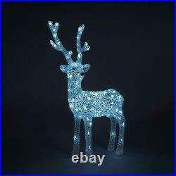 LED Acrylic 85 cm Reindeer Light Up Christmas Decoration Outdoor Indoor Garden