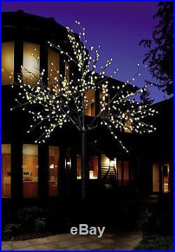 LED Baum Lichterbaum beleuchtet weiß Lichterzweig Lichterkette 500 LED 220 cm