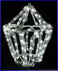 LED Christmas Lantern Outdoor Decoration Lights Rope Hook Festive Xmas 23cm