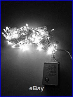 LED Christmas Lights COOL WHITE Exterior 100ft roll 300 LEDs 110V Outdoor String