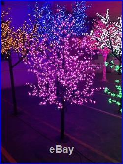 LED Christmas artificial cherry blossom tree light 6.5ft height 1152LEDs purple