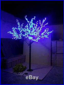 LED Christmas wedding outdoor artificial cherry blossom tree light 6.5ft 1152LED