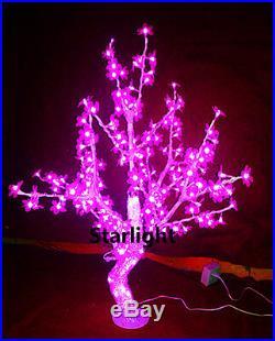 LED Crystal Cherry Blossom Tree Christmas Light 240 LEDs 3.3ft/1m Height Pink