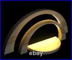 LED Doppel Schwibbogen 51cm & 34cm modern inkl. Vorleger Leerbogen Erzgebirge