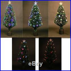 LED Fibre Optic Christmas Tree Pre Lit Xmas Tree 2ft, 3ft, 3ft, 4ft, 5ft, 6ft