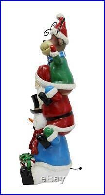 LED Large Santa, Snowman & Reindeer statue