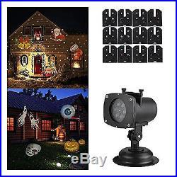 LED Light Projector Snowflake Decoration Party Christmas Holiday Xmas Santa Star