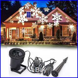 LED Light Projector Spotlight Snowflake White Party Christmas Holiday Decor Xmas