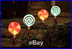 LED Lightshow Xmas Glitter Lollipop Pathway Light (4 Set), outdoor, yard decor