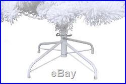 LED Pre-Lit Christmas Tree 6.5 ft. With BONUS Snowman Topper Cool White Lights NEW