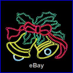LED Rope Light Animated Ringing Bells Large Outdoor Display Christmas Decoration