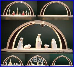 LED-Schwibbogen modern wood Tietze 6x Auswahl Erzgebirge Lichterbogen Neu