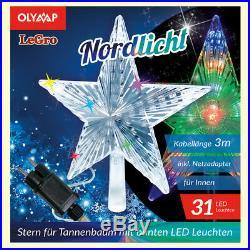 LED Stern für Tannenbaum Weihnachtsstern mit 31 multicolor LED's