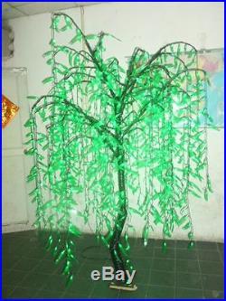 LED Willow Tree Outdoor Christmas Tree Light LED Lamp 1,008 LED Bulbs Green 6ft