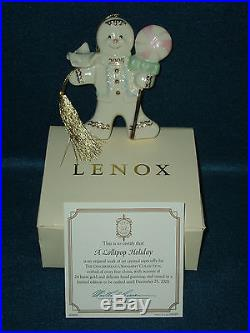 Lenox 2005 Gingerbread Christmas Ornament / New