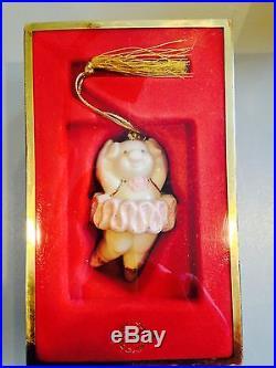 LENOX HOLIDAY PIG PIROUETTE ORNAMENT IN ORIGINAL BOX