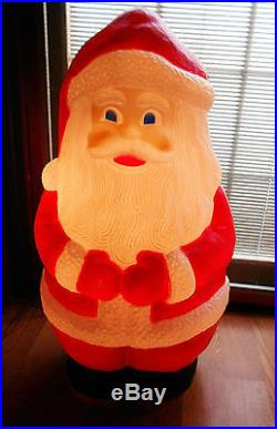 LG Vintage Union Products Christmas Santa Claus Light Blow Mold 32 Winter Decor