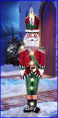 LIGHTED 44 JOYFUL SANTA CHRISTMAS OUTDOOR HOLIDAY YARD DECOR NEW