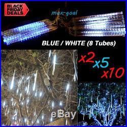 LOT 1-20 8 Tubes Waterproof 30cm 144 LED Meteor Shower Rain Lights String Xmas G