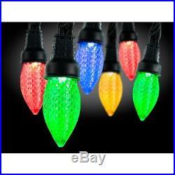 LOT 4 Gemmy LightShow AppLights 24-Light LED Multi-color C9 Shape String Light