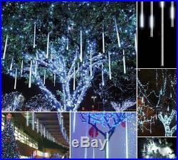 LOT 50pcs 8 Tubes 30cm 18 LEDs Meteor Shower Rain Light Lamp Tree Home Decor HM