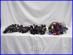 LOT OF 7 VINTAGE CHRISTMAS LIGHTS C9 STRING 2 ONLY WITH BULBS