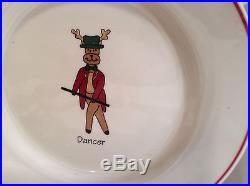 LTD Commodities Santa Reindeer Christmas Plates Set Of 8 There 8 Across