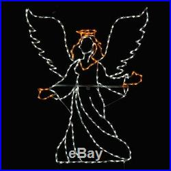 Large Angel Christmas Nativity Outdoor LED Lighted Decoration Steel Wireframe